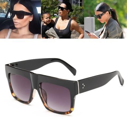 0310f6bb00 Luxury Brand Designer Kim Kardashian Fat Top Sunglasses Women Retro Shades  Sun Glasses for Men Gafas Oculos De Sol Feminino