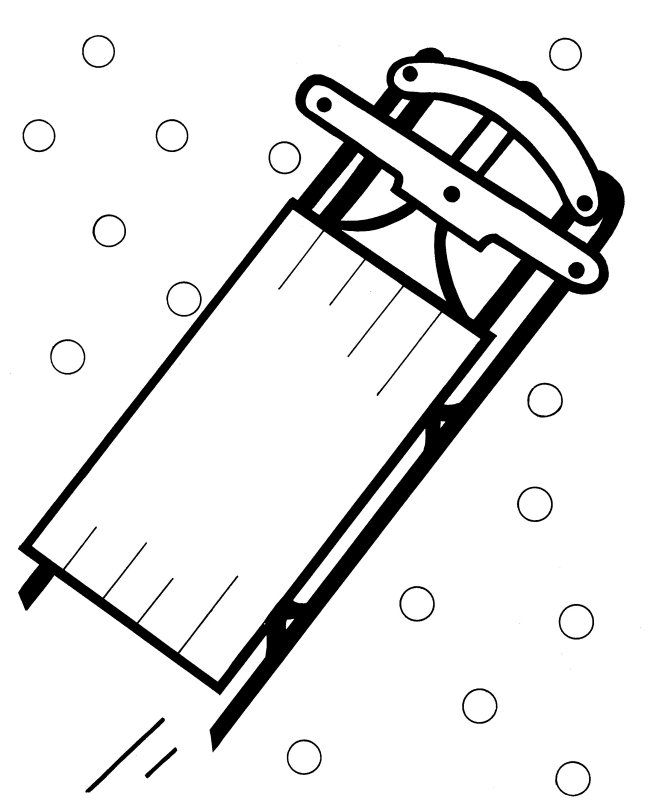 Sled Coloring Pages Free Coloring Pages Coloring Pages Winter
