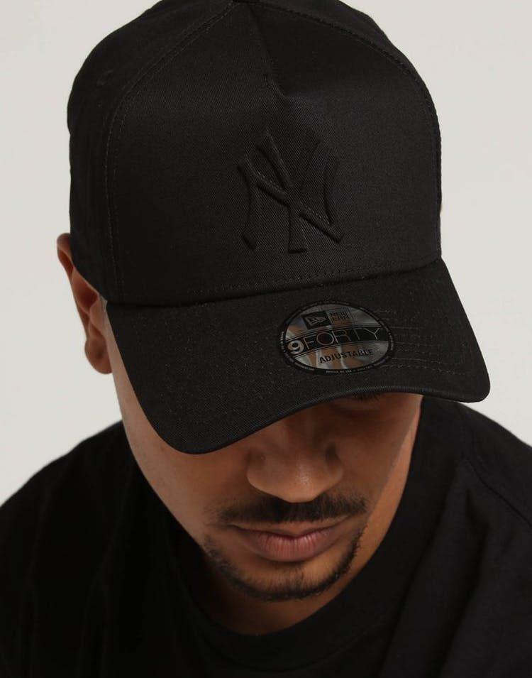 New Era New York Yankees Emboss 9forty A Frame Snapback Black New York Yankees New Era Yankees News