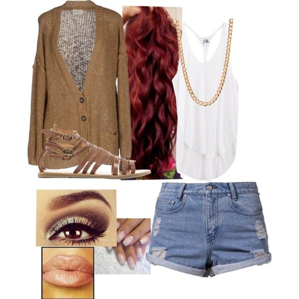 """Brown"" by baybeevee on Polyvore"