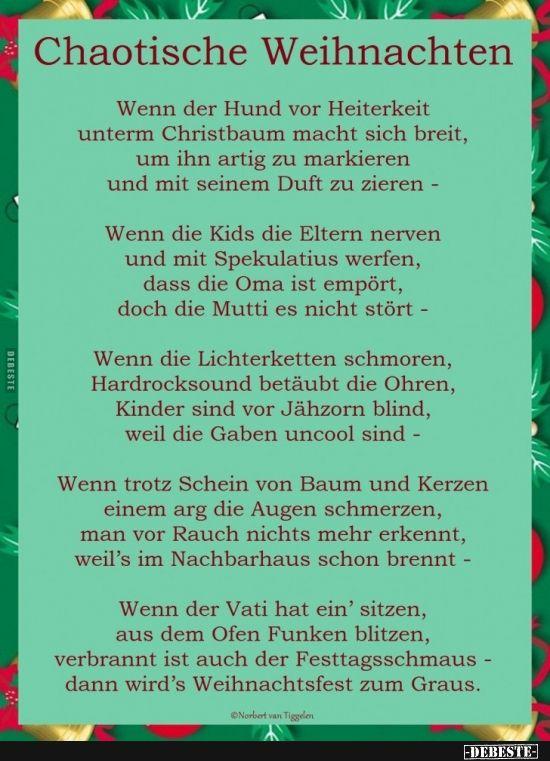 Chaotische Weihnachten Lustige Bilder Spruche Witze Echt Lustig Gedicht Weihnachten Lustige Gedichte Zu Weihnachten Weihnachten Gedichte Spruche