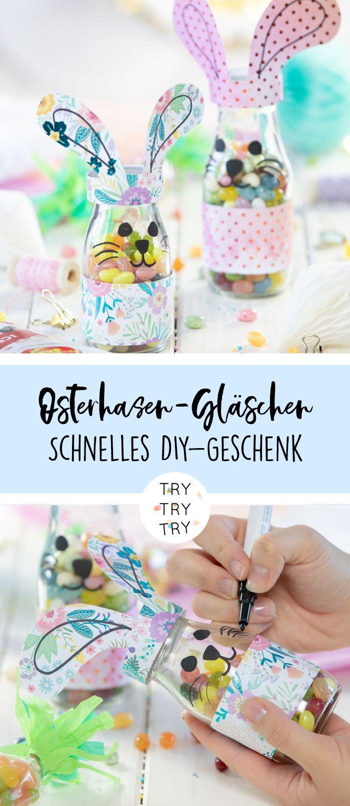 Osterhasen-Gläschen und Karotten-Tüten mit Jelly Belly