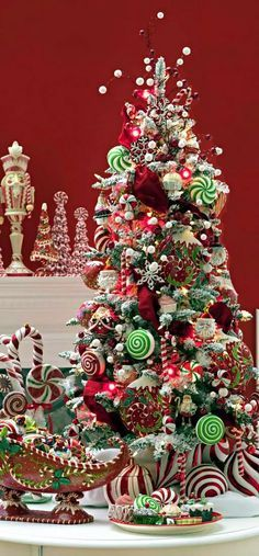 Pre Lit 4 Ft Artificial Flocked Snow Tree With Ornament To Ornament Display Beautiful Whimsical Christmas Trees Amazing Christmas Trees Christmas Tree Themes