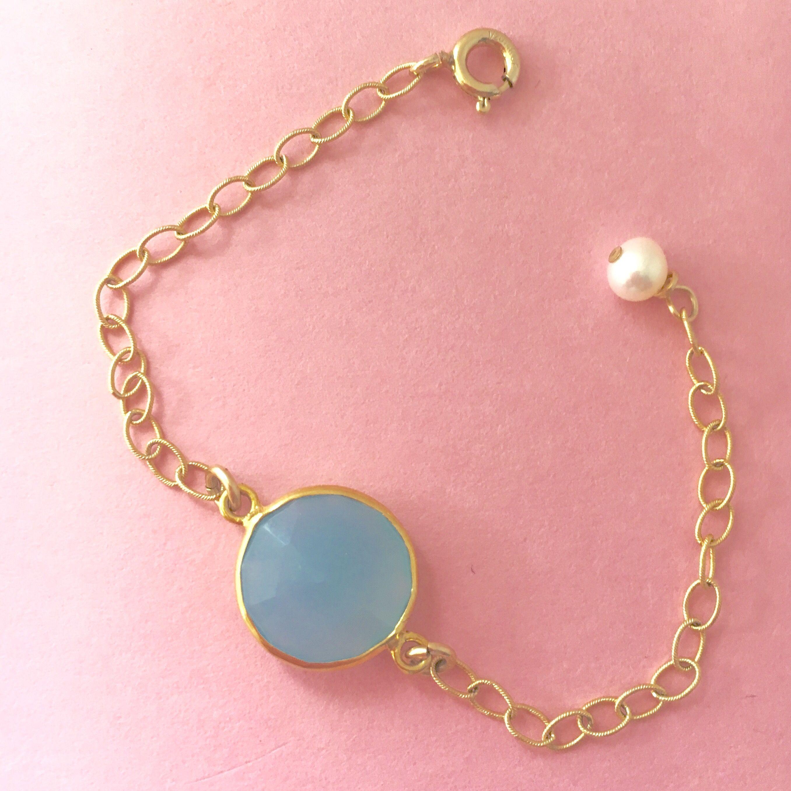 Sky blue link bracelet baby girl bracelets pinterest baby