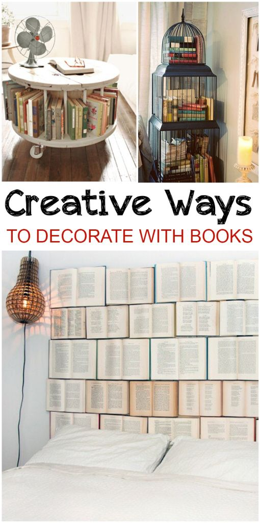 Creative Ways to Decorate with Books  Home decor, Decor, Home