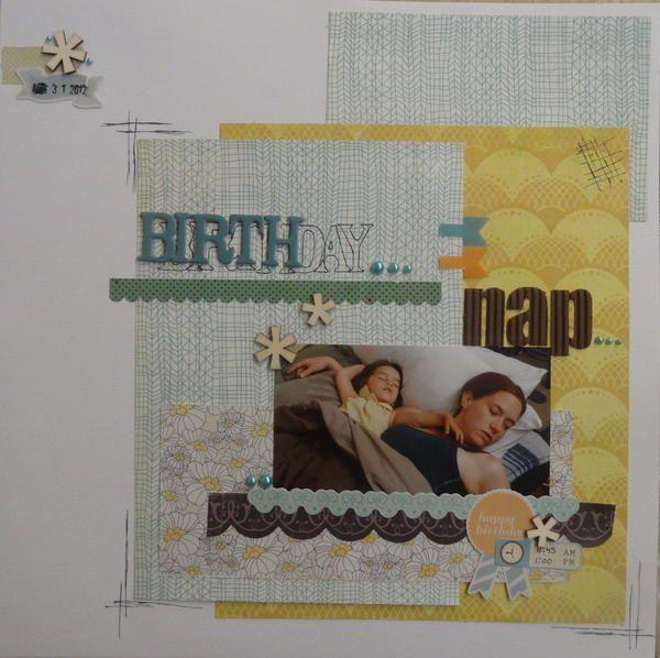 Layout: Birthday Nap