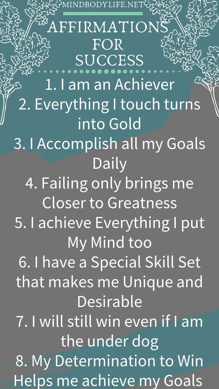 Affirmations for Success - Top 15 Affirmations - Mind Body Life