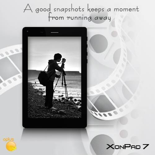 Shoot like a Professional with #Xonpad_7! #2MP Front #Camera & #5MP back camera – with #Auto_Focus capacity.
