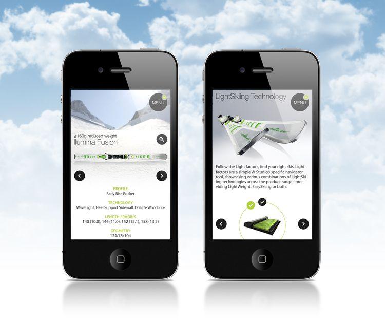Elan LightSkiing Mobile/iPad website – by Webshocker