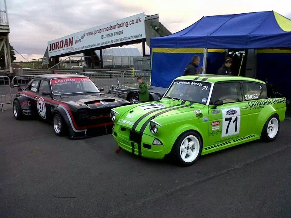 Mk1 Fordescort And Ford Anglia On Seriously Wide Stances