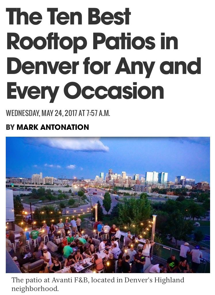 The Ten Best Rooftop Patios In Denver For Any And Every Occasion