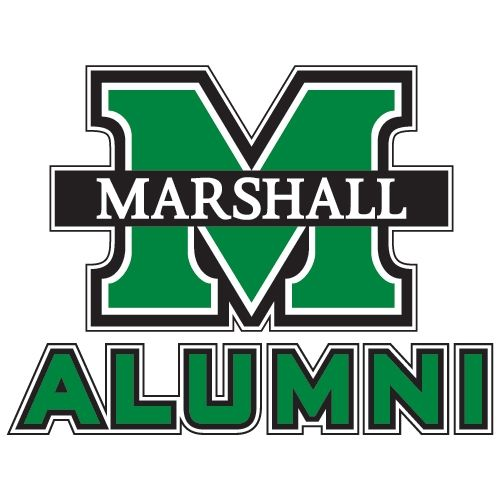 Marshall Marshall Alumni Decal M Marshall 6 In W University Logo Marshall University Marshall Thundering Herd