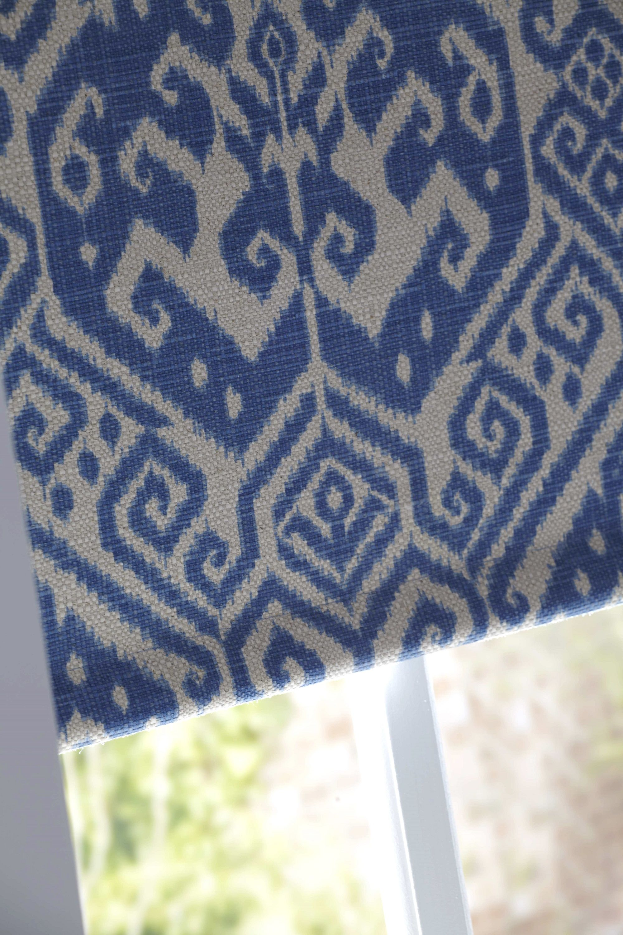 Blue Ikat Boho Bedroom Roller Blind With Fabric From John