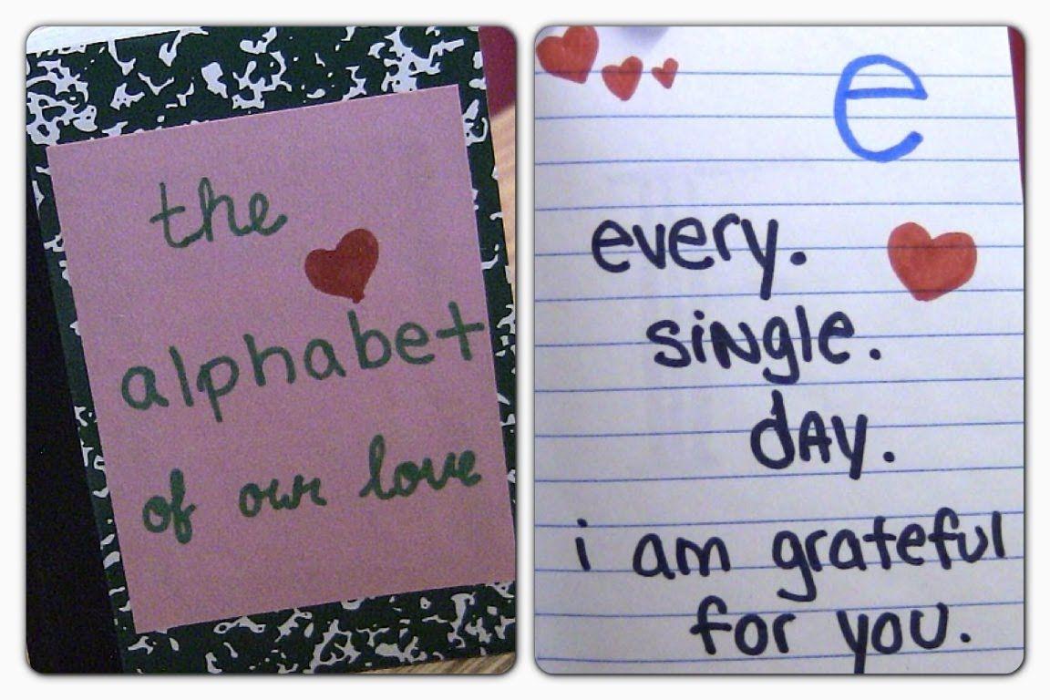 Diy Alphabet Of Love Valentine S Day Gift Idea Diy Crafts For Boyfriend Diy Gifts For Girlfriend Diy Projects For Boyfriend