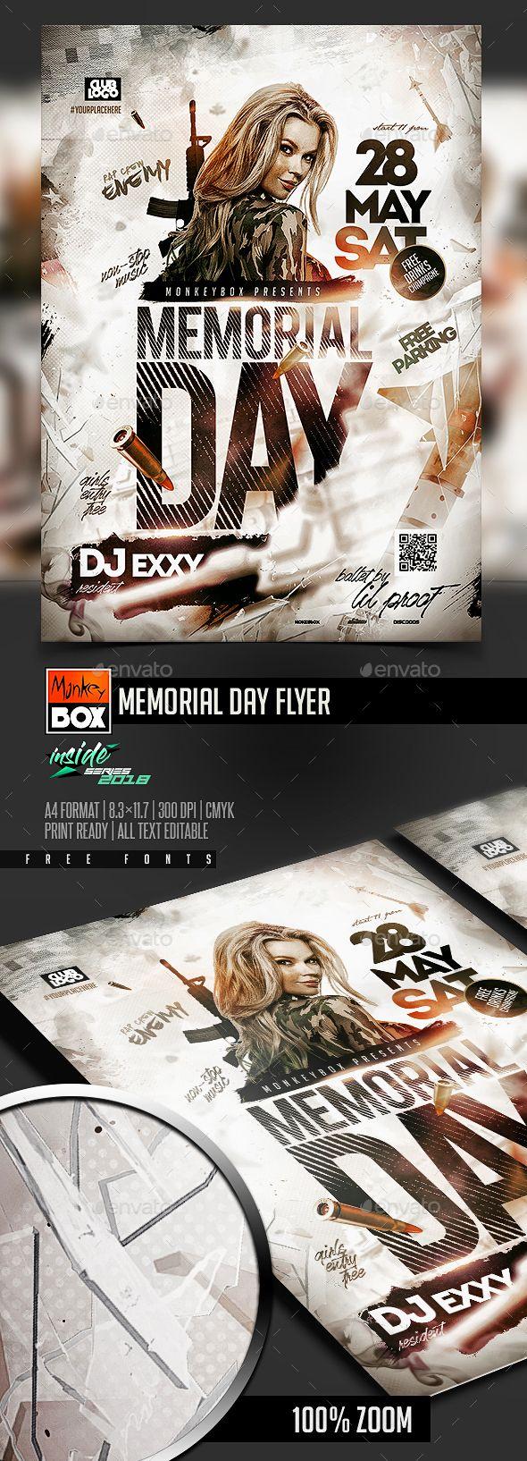memorial day flyer facebook ads pinterest flyer design design