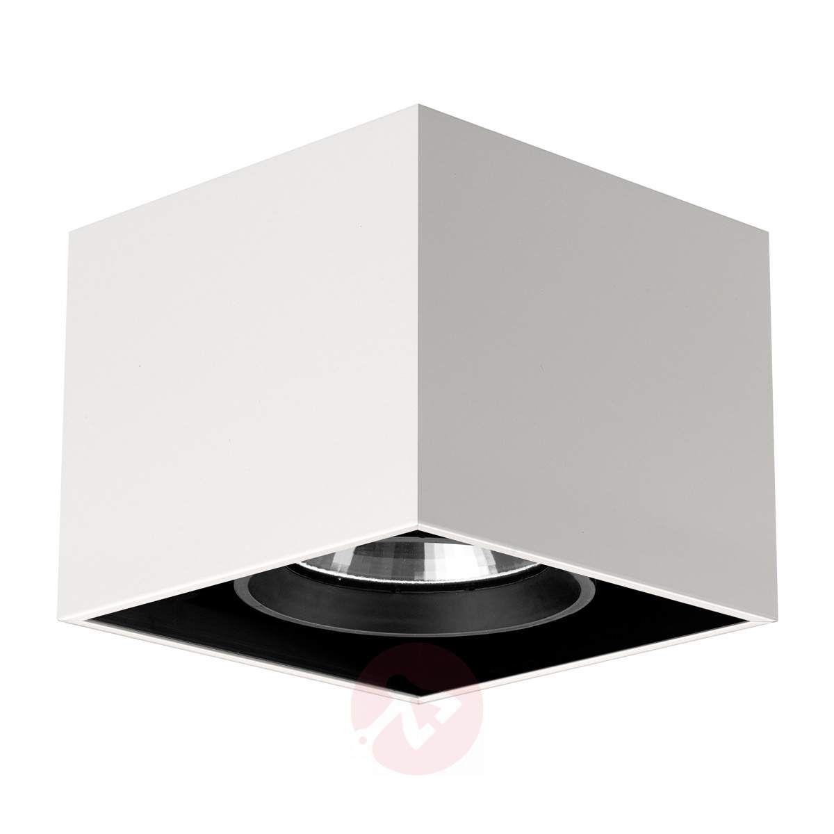 Kwadratowa Lampa Sufitowa Compass Box Biała W 2019 Lampy
