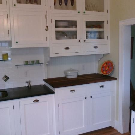 1920's kitchen cabinets refurbished.   Ideas for the House ...