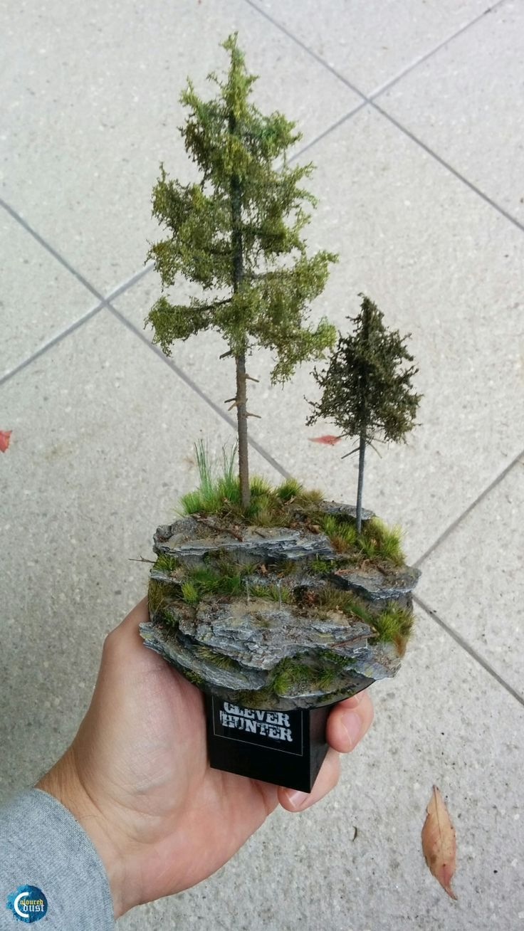 How to make a forest base | miniature tutorials, doll house