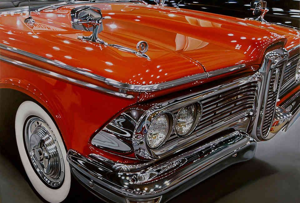 Meet The Most PhotoRealistic Automotive Artist In America is part of Car painting, Car pictures, Car drawings, Classic cars muscle, Car art, Muscle cars - Most of these could be mistaken for an actual photograph