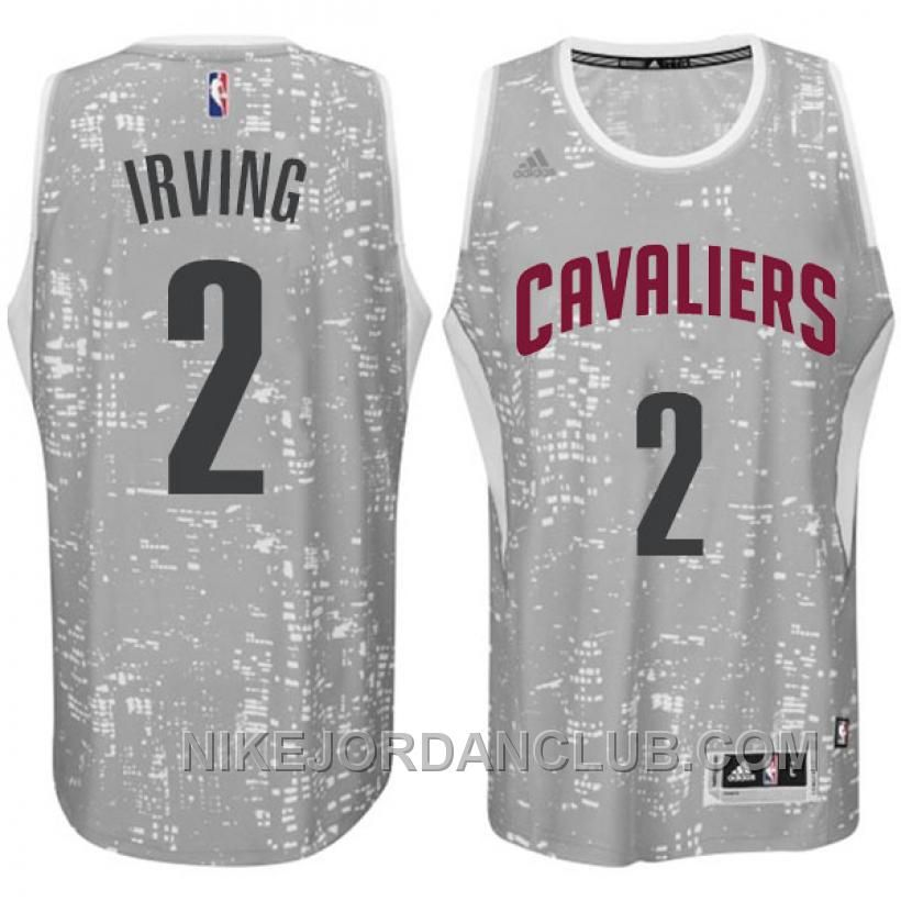 1ad577f9b Buy Cleveland Cavaliers Kyrie Irving City Lights Gray Swingman Jersey from  Reliable Cleveland Cavaliers Kyrie Irving City Lights Gray Swingman Jersey  ...