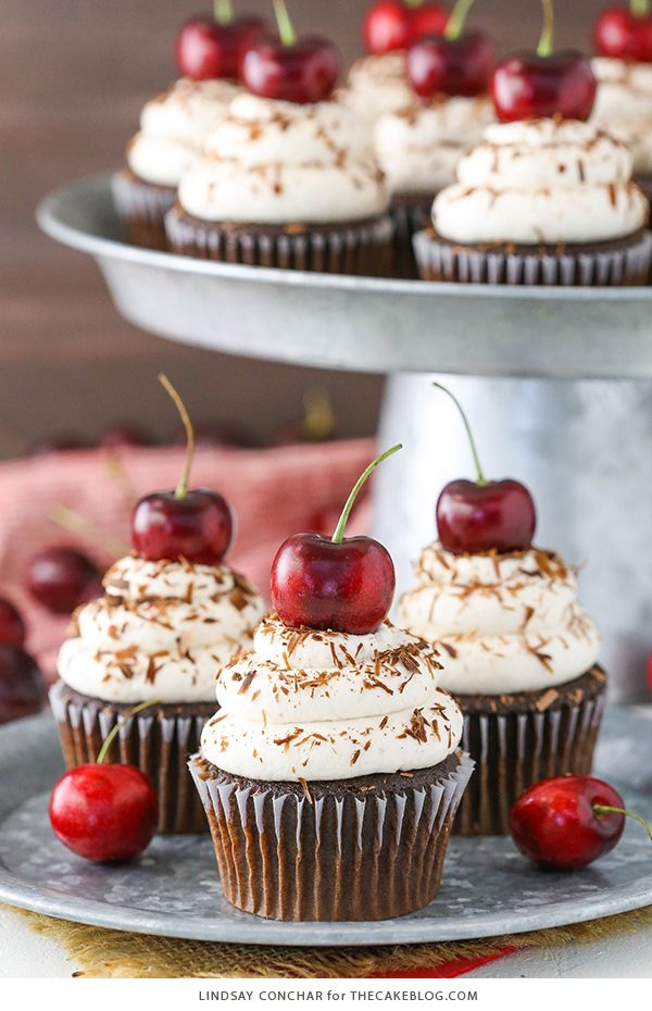 Black Forest Cupcakes #chocolatecupcakes