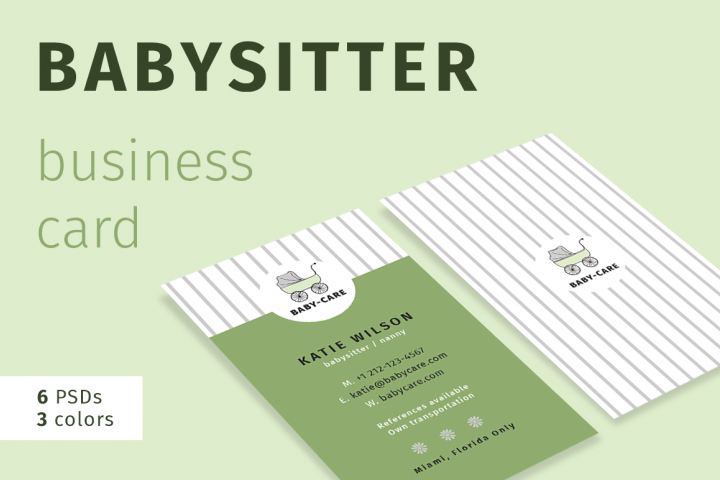 Babysitter Business Card Felicitys Creative Shop Templates Business Cards Business Card Template Design Business Card Design Business Cards