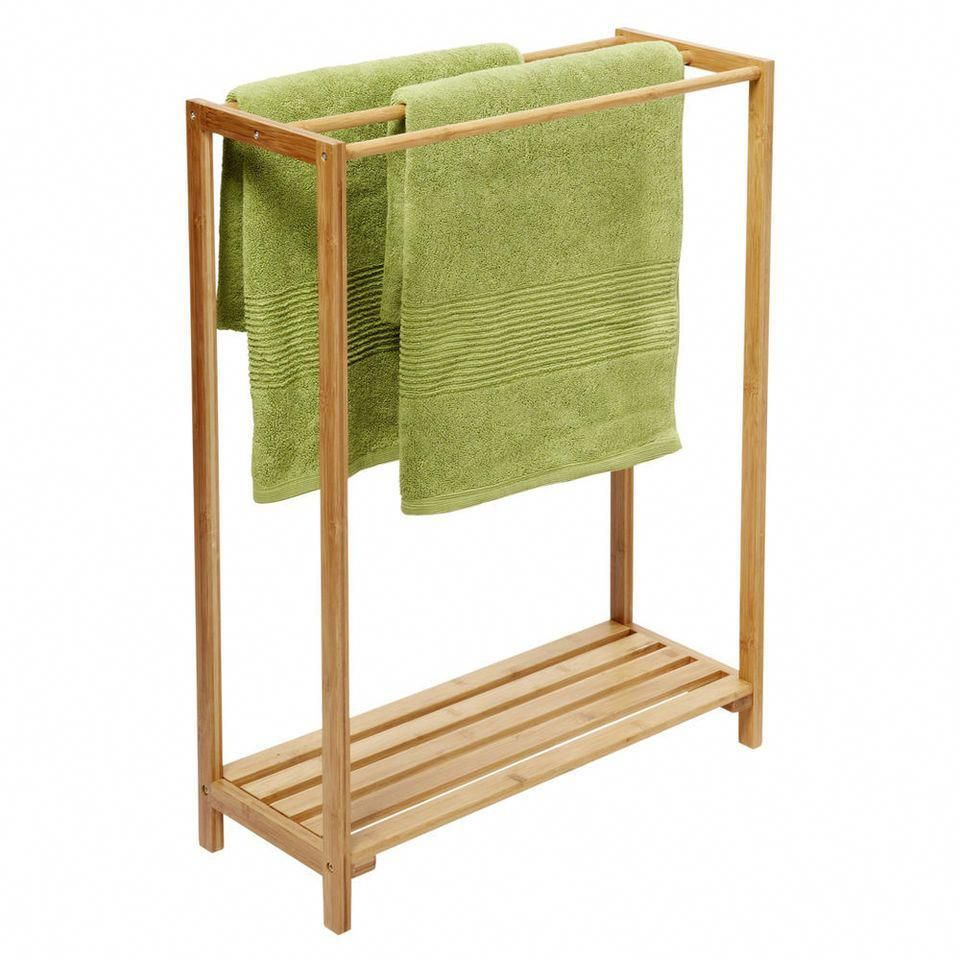 Mileno Freestanding Towel Rack Bamboo Bathroomfurniturefreestanding Free Standing Towel Rack Free Standing Towel Rack Bathroom Towel Rack