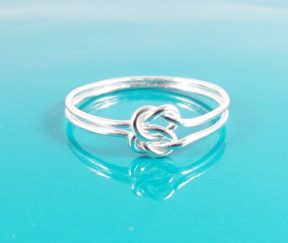 Sterling Silver Double Love Knot Ring Hug by PurplePoemCraft, $30.00
