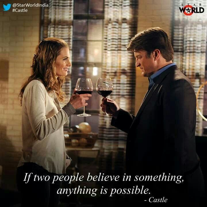 """If two people believe in something anything is possible."""