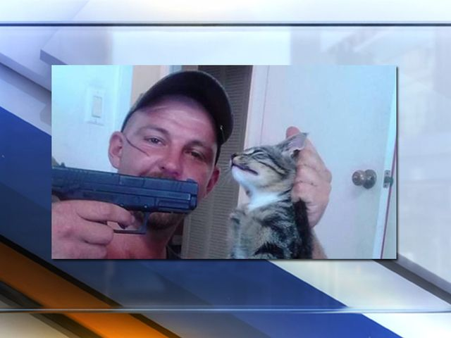 Disturbing Facebook photo shows Florida man pointing gun at cat; cops begin search for culprit