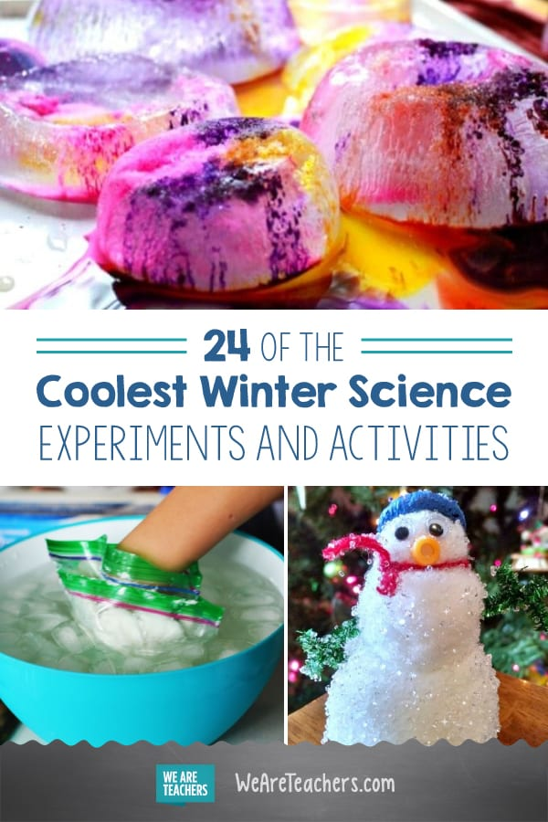 24 of the Coolest Winter Science Experiments and Activities | Weather science, School science ...
