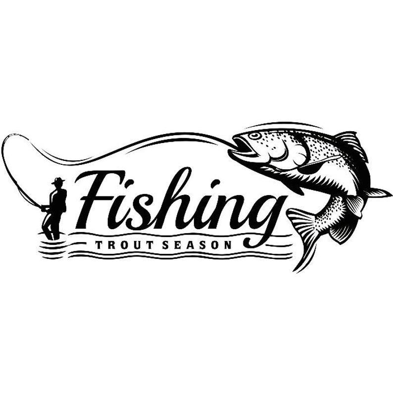 Fly Fishing Logo 8 Angling Fish Fresh Water Hunting Striped Etsy Fish Logo Fishing Quotes Fish
