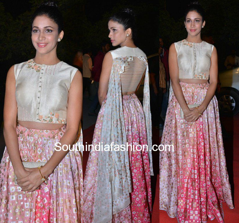 8afe44fb0b049 Lavanya Tripathi in a long skirt and crop top