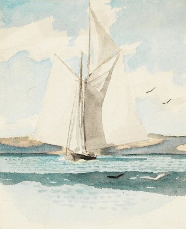 Edward Hopper Sailboat 1900 Edward Hopper Aquarell