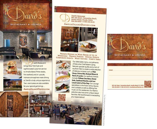 Davidu0027s Restaurant Rack Card and Business Card Rack Card Designs - rack card template