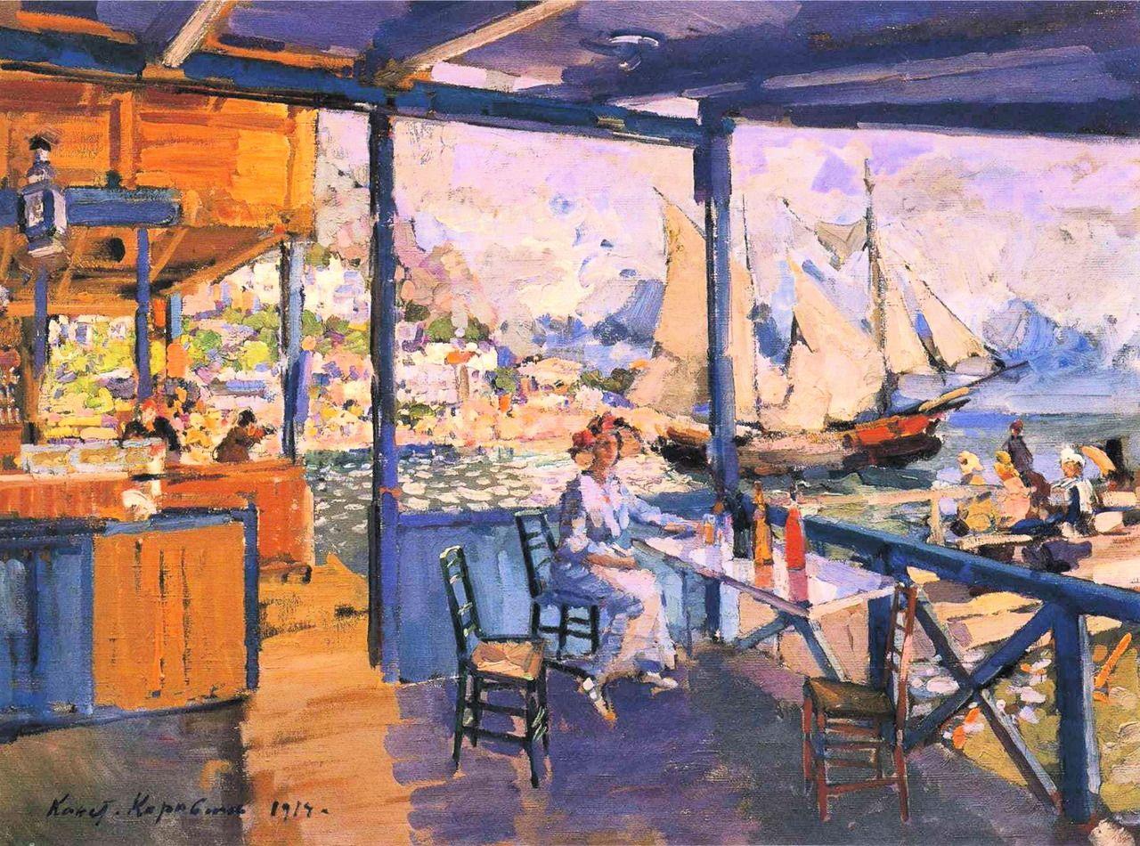 Artist: Konstantin Korovin Title: Pier in Gurzuf . 1914