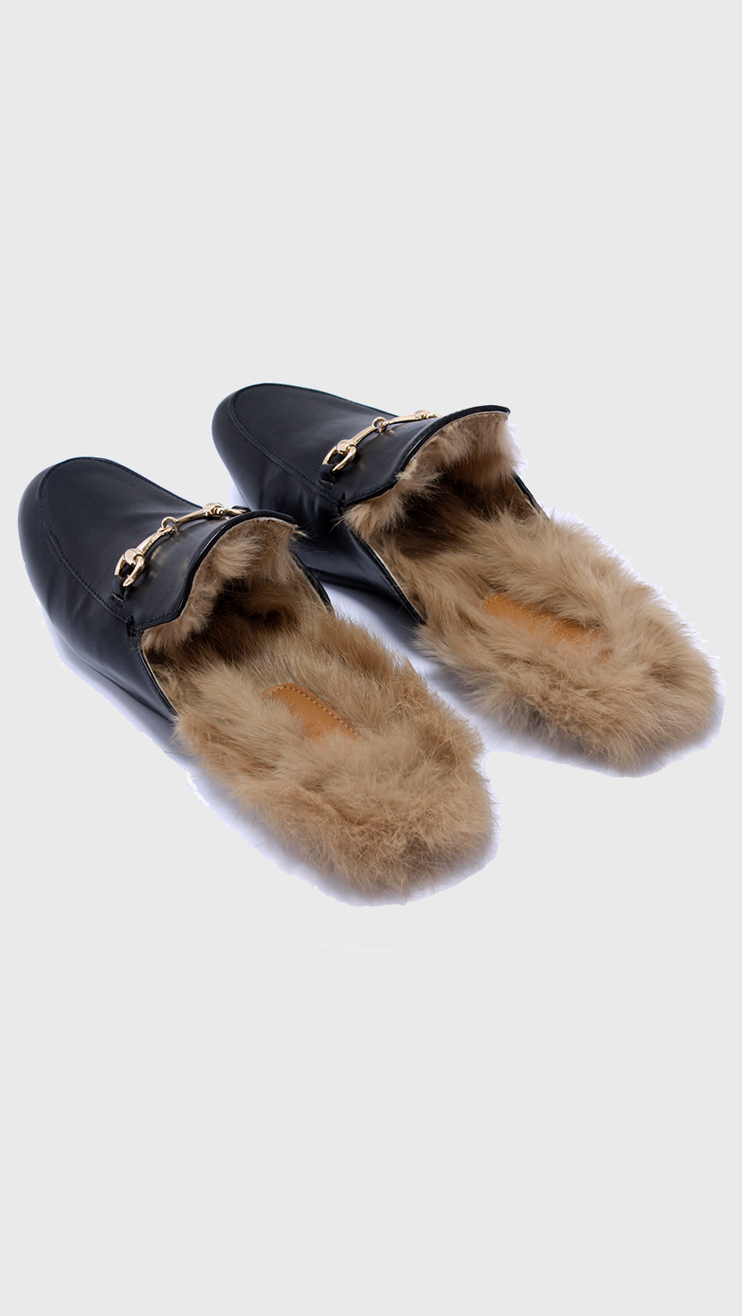 9e4c330c74c Get the Gucci fur slippers for less
