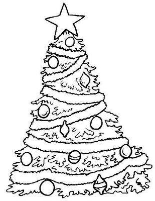 Desenhos e riscos de Árvores de natal para colorir Christmas yard - disney christmas yard decorations