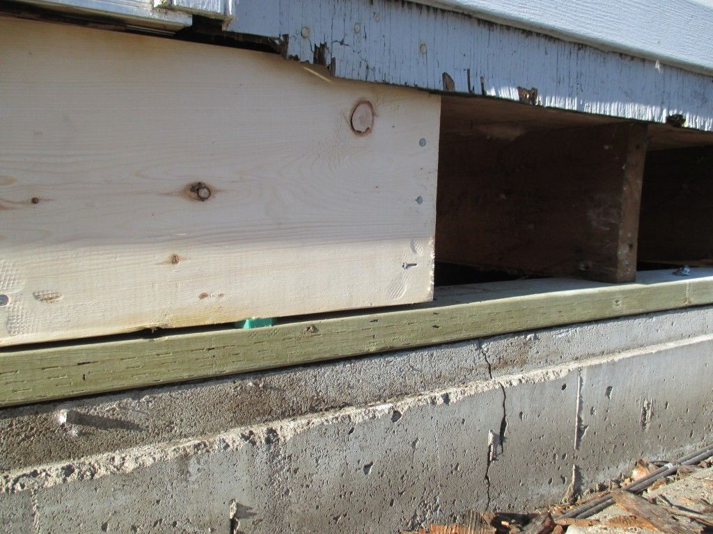 Sill plate and box joist replacement - Evans Construction ...