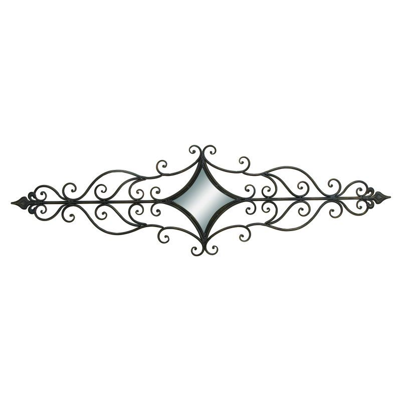DecMode Scrollwork Elongated Wall Sculpture - 35347