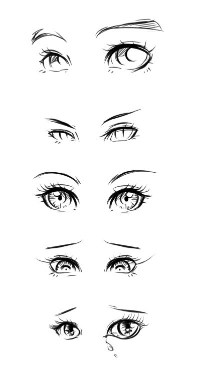 Eye Design Tutorial By Ryky On Deviantart Anime Drawings Anime Eyes Sketches