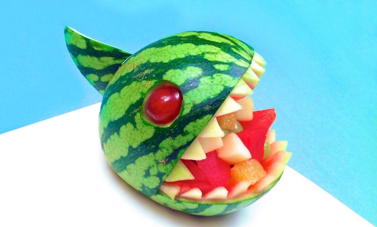 how to make a watermelon piranha bowl (hd) | fruit and veggies