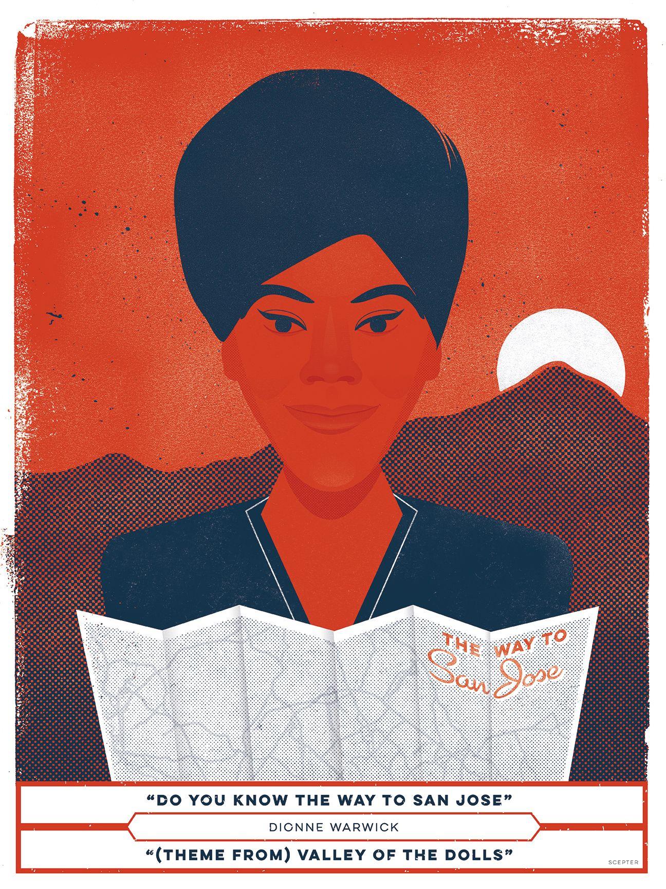 Dionne warwick do you know the way to san jose poster by jd dionne warwick do you know the way to san jose poster by jd humphreys hexwebz Choice Image