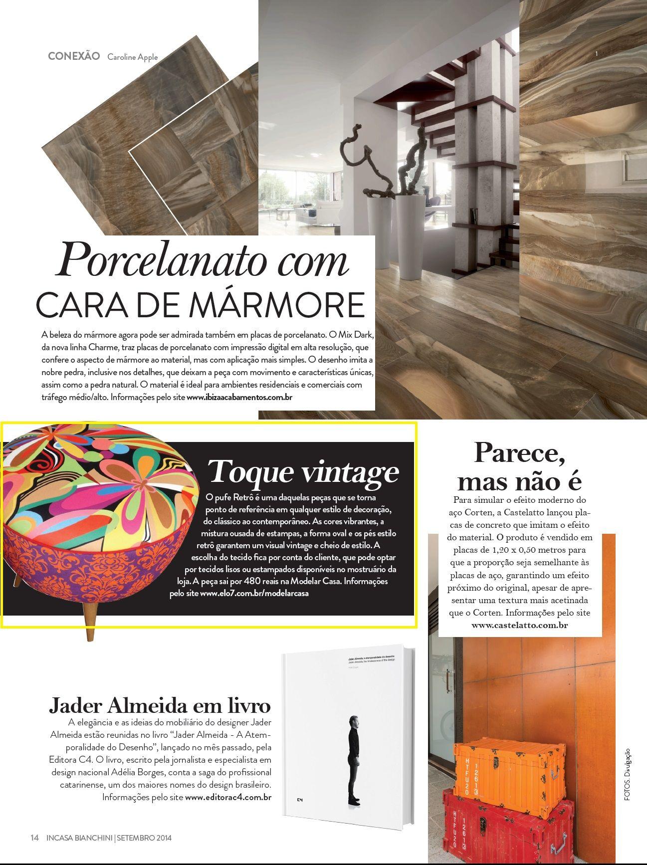 Um pufê retrô da Elo7 foi publicado na Revista InCasa Bianchini.