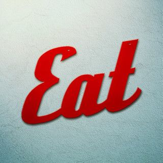 Incroyable Eat Extra Large Metal Kitchen Sign | Script Tin Signs | RetroPlanet.com