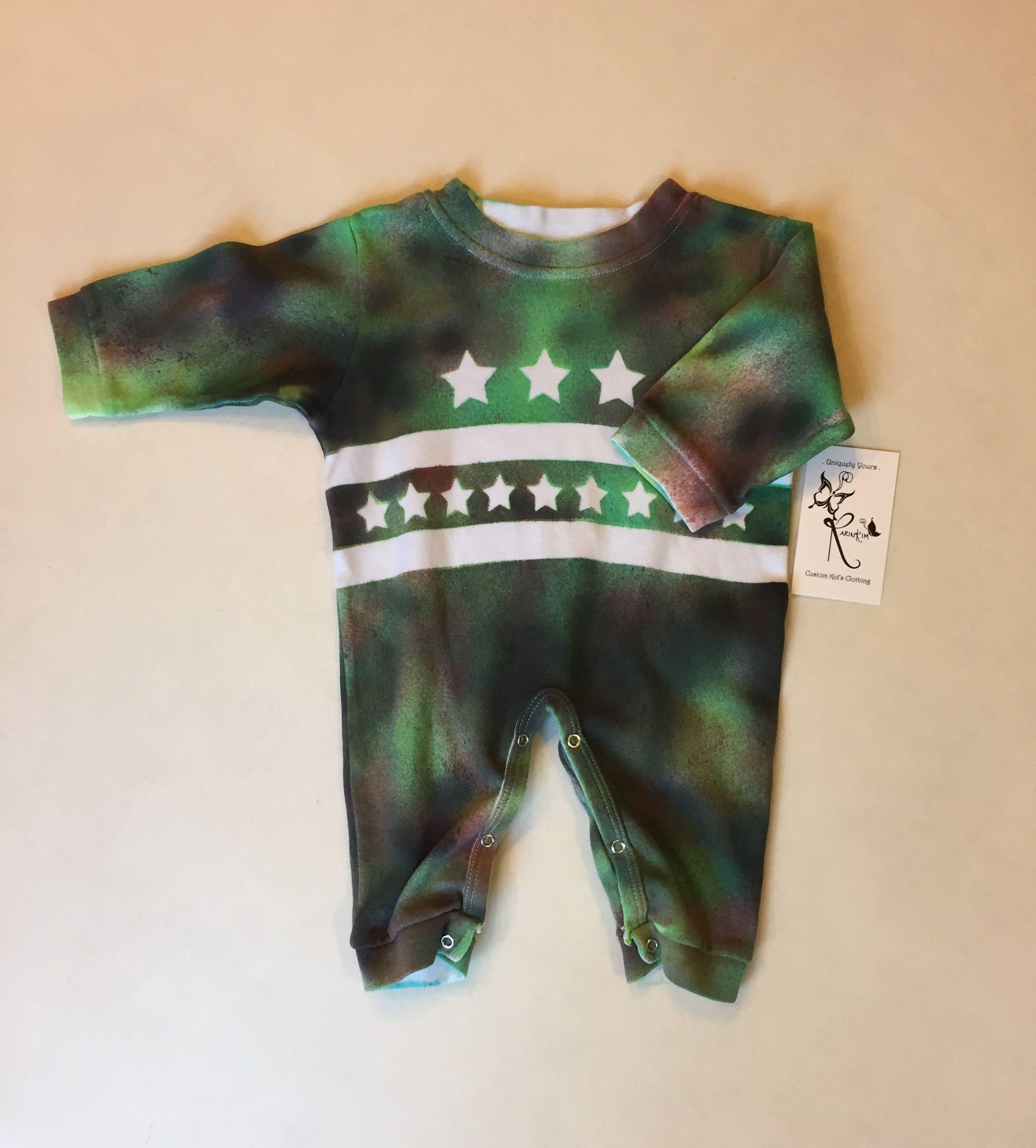 Tie Dye Baby Clothes Camo Baby Boy esie Newborn Boy Clothes