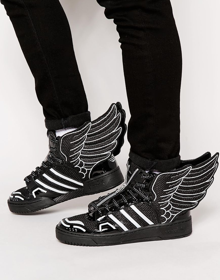 new concept 60ce5 9715b adidas Originals x Jeremy Scott Wings 2.0 Mesh Trainers