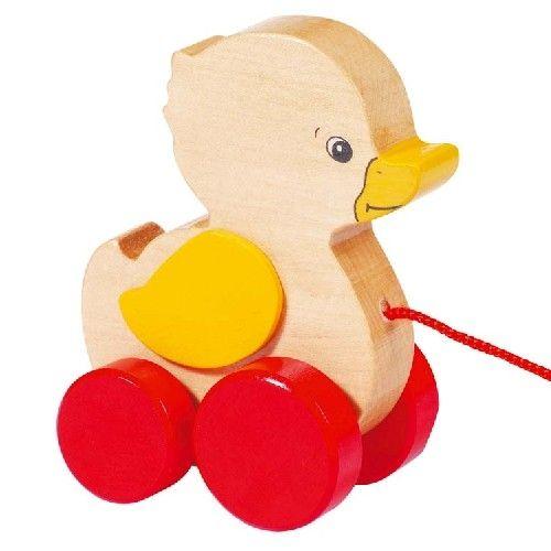 Petit canard à tirer- Goki Gollnest Kiesel- Bébé Petit Pom
