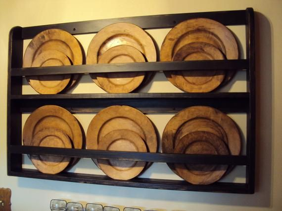 Plate Rack, Plate Shelf, Hanging Plate Shelf, Farm House Plate Rack, Wall Plate Holder, Wall Plate Rack, Wall Mounted, Wall Plate Shelf #plateracks