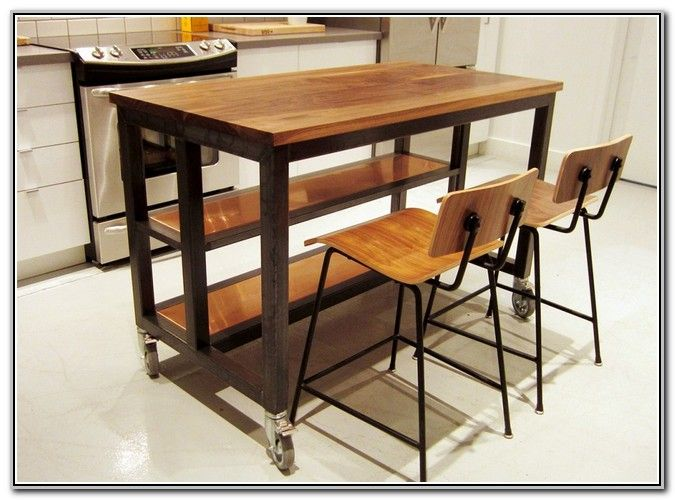 Kitchen Island On Wheels With Seating | Kitchen island on ...